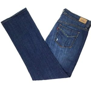 Levi 505 Women's Jeans Size 10 S/C W34 X L29 Blu